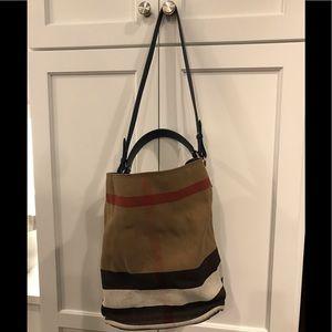 Burberry Canvas Blue Check medium Ashby Hobo bag